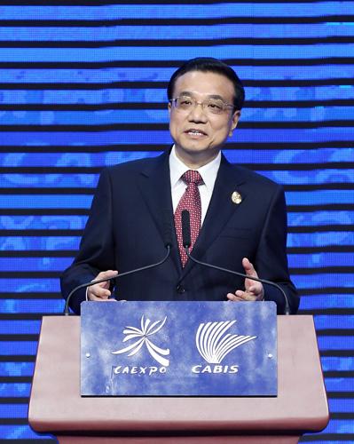 9月3日,第十届中国-东盟博览会和中国-东盟商务与投资峰会在广西南宁国际会展中心隆重开幕。中国国务院总理李克强出席开幕式,并发表主旨演讲。[新华社 姚大伟 摄]