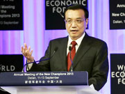 Premier Li delivers keynote speech at 2013 Summer Davos