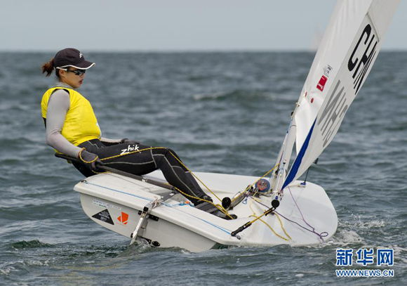 Olympic champion Xu Lijia has pulled out of ISAF World Cup Qingdao leg due to injury.[File photo]