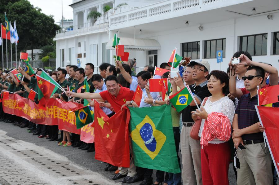Chinese navy warships pay goodwill visit to Brazil- China ... Goodwill