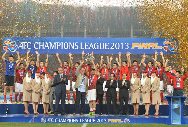 Guangzhou Evergrande became the first Chinese side to be crowned continental champions in 23 years after winning the AFC Champions League title last weekend in front of a 55,847 crowd at Tianhe Stadium.
