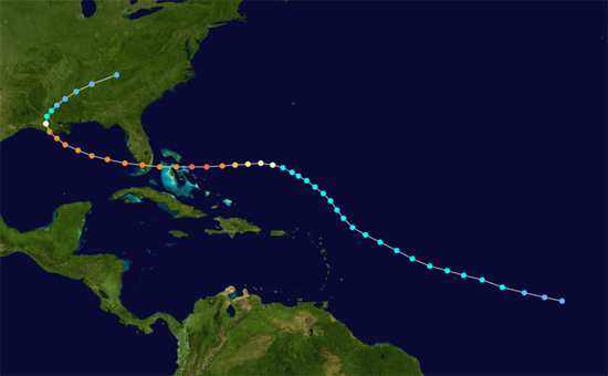 Hurricane Andrew, one of the 'top 10 strongest typhoons, hurricanes in history' by China.org.cn.