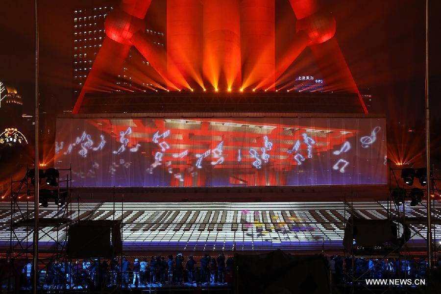 3D Light Show 3d light show displayed in shanghai - china.cn