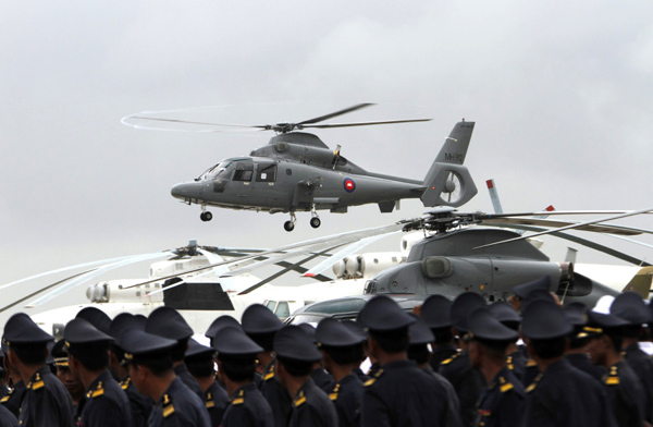 12 China made Z 9 helicopters delivered to Cambodia China