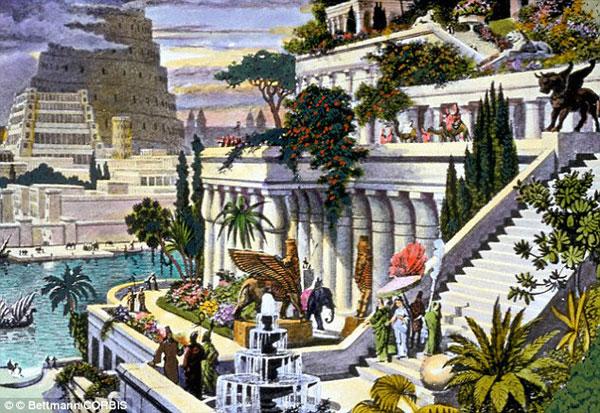 人们根据传说描绘的古巴比伦空中花园 [资料图]-牛津历史学家发现巴