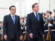 Chinese premier meets with visiting UK PM