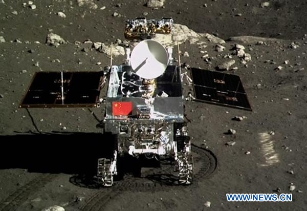 Chang'e 3 mission marked completion of the second phase of the country's lunar program, and China plans to launch lunar probe Chang'e 5 in 2017. [Photo / Xinhua]