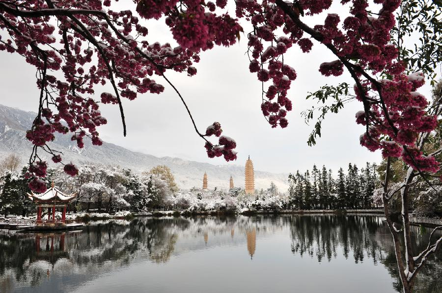 Beautiful China Scenery Beautiful snow scenery in Dali