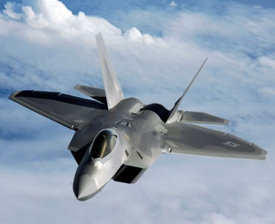 F-22 Raptor, one of the 'top 10 fifth generation jet fighters in the world' by China.org.cn.