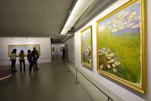 Image taken on March 8, 2014 shows China's largest ever show of works by French Impressionist Claude Monet in Shanghai.