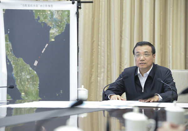 Li urges more search efforts on missing jet