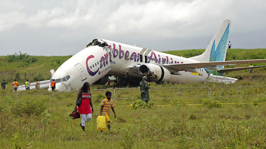 Caribbean Airlines, 2011, one of the 'top 10 plane crash miracles' by China.org.cn.