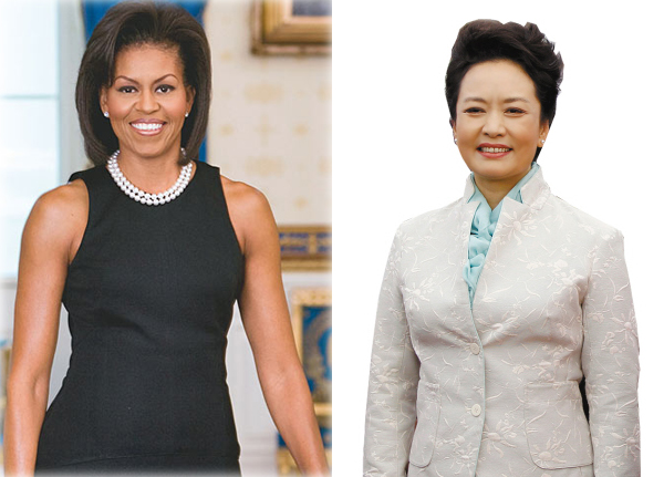 US first lady, Michelle Obama, will kicks off her visit to China today and meet with Chinese first lady Peng Liyuan (R) in Beijing. [File photo]
