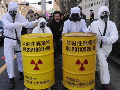 People take part in an anti-nuclear rally in Tokyo on March 9, ahead of the third anniversary of the Fukushima nuclear disaster [Xinhua photo]