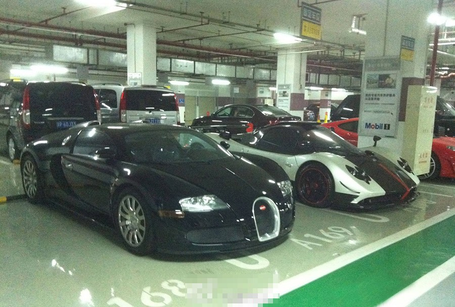 Luxury cars exposed in Beijing's underground garage- China.org.cn