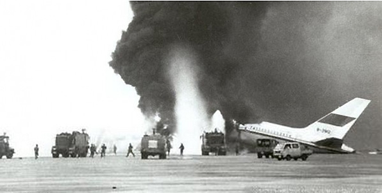 Guangzhou Baiyun Airport Collisions, 1990, one of the 'top 10 most terrifying aircraft hijackings' by China.org.cn.