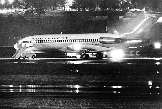 Hijacking of Northwest Airlines Boeing 727, 1971, one of the 'top 10 most terrifying aircraft hijackings' by China.org.cn.