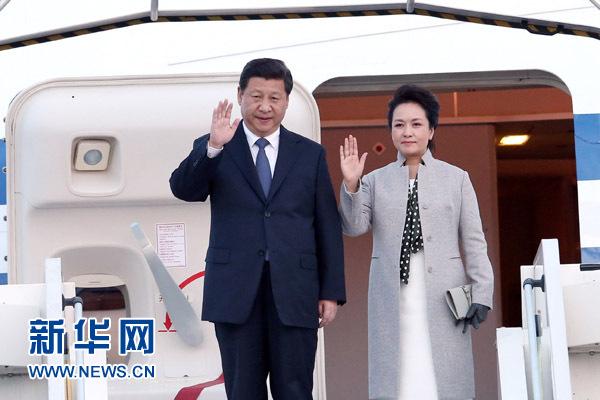 3月25日,国家主席习近平抵达里昂,开始对法国进行国事访问。[新华社 庞兴雷 摄]