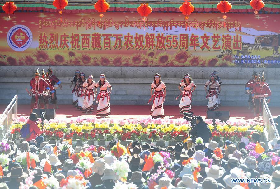Tibet celebrates 55th anniversary of serfs 39 emancipation for Capital region craft fairs