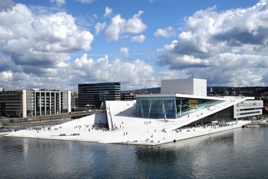 Oslo Opera House, one of the 'Top 10 opera houses in the world' by China.org.cn