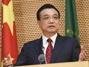 Premier Li delivers speech at AU headquarters