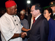 Chinese premier arrives in Nigeria for visit