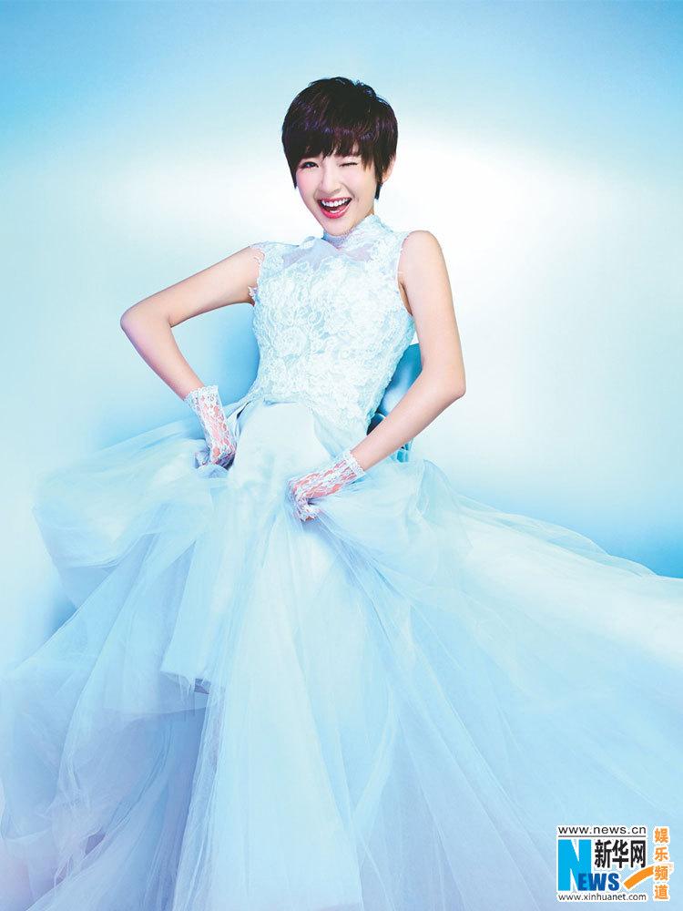 Cute girl Tang Yixin in wedding dress- China.org.cn