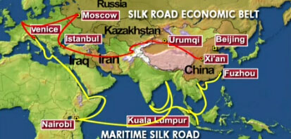 Image result for silk road economic belt