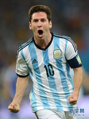 梅西打入世界杯第二球 阿根廷2-1胜波黑图片