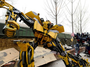 Farmers in Shandong build robots out of used car parts