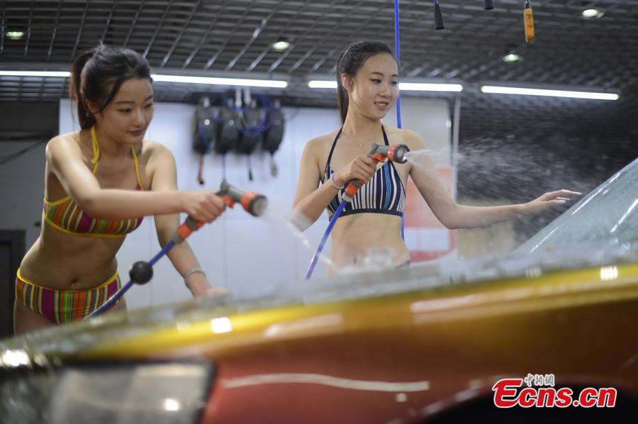 太原洗车店推比基尼美女洗车服务