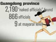 866 'naked officials' removed from posts in Guangdong prov.
