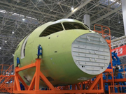 China's self-made C919's key part rolls of production line