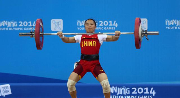 蒋惠花摘中国首金 抓举成绩破世界青年纪录