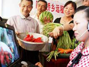 Chinese farmers use Internet to sell produce