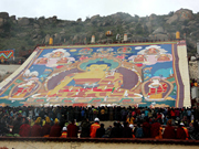 Great Buddha display held at Drepung Monastery in Tibet