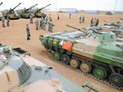 6th armored division of Chinese 38th army opens to media