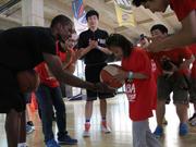Rajon Rondo teaches at NBA Yao School