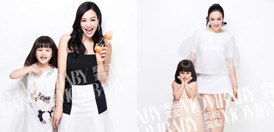 钟丽缇44岁生日与爱女考拉拍姐妹花写真
