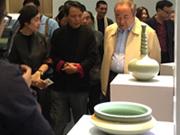 100 ceramic pieces using rare technique on display