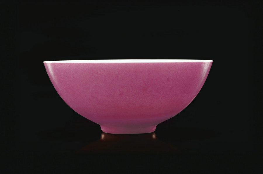A very rare and fine ruby-back small bowl from the Yongzheng period [english.cguardian.com]