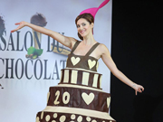 70 models hit the runway with chocolate designs