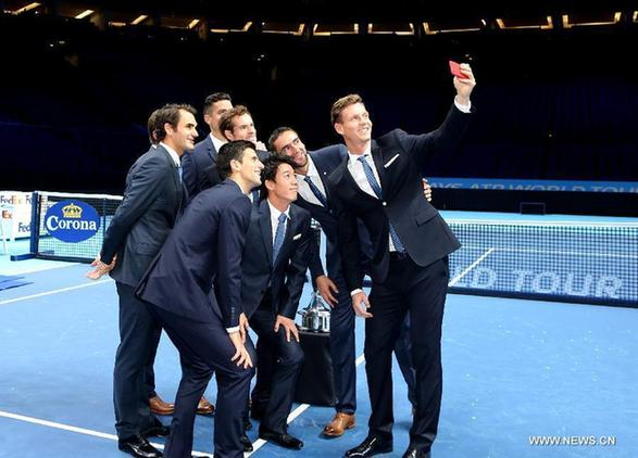Players Of Barclays Atp World Tour Finals Pose Before Match In