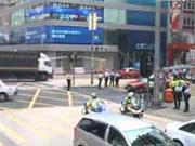Traffic flowing again in Mong Kok district