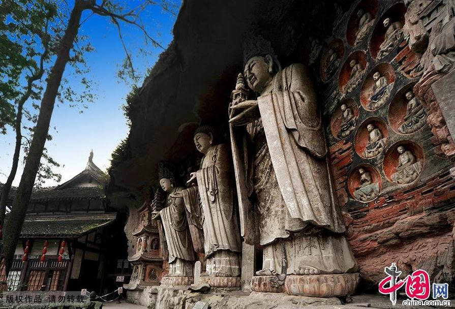 Chongqing dazu rock carvings china