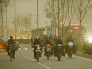 Sandstorms swept China's northern regions