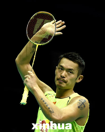 Lin Dan defended the men's singles title at the Badminton Asia Championships in Wuhan on Sunday, a boost for the Chinese superstar who is gearing up for the 2016 Rio Olympics. [Xinhua]