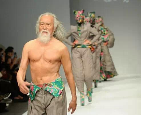 Wang Deshun, one of the 'top 10 super models over 60 years old' by China.org.cn.