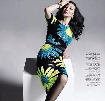 China Machado, one of the 'top 10 super models over 60 years old' by China.org.cn.