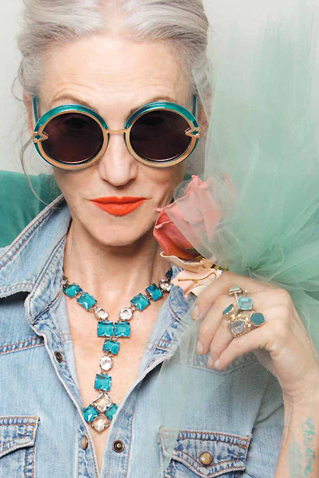 Linda Rodin, one of the 'top 10 super models over 60 years old' by China.org.cn.